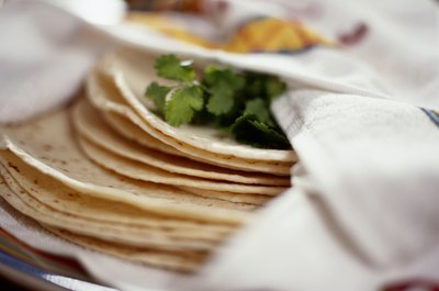 Tortillas are healthier if you don't fry them.