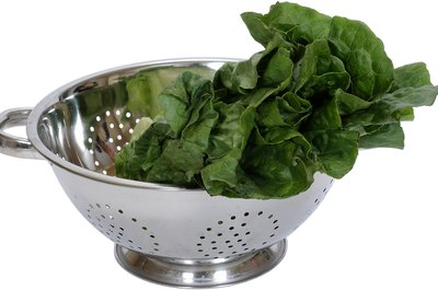 Leafy greens are a great source of iron.