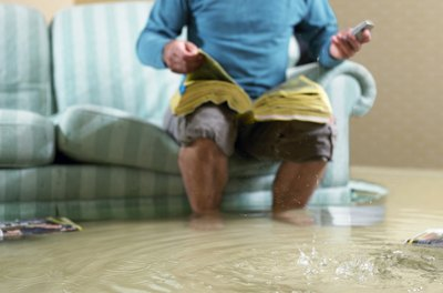 Check with your insurance agent. You may not be covered for certain types of water damage.