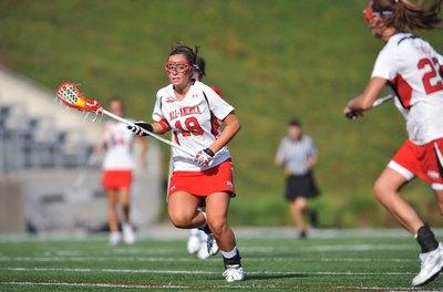 Lacrosse is a popular girls' high school sport.