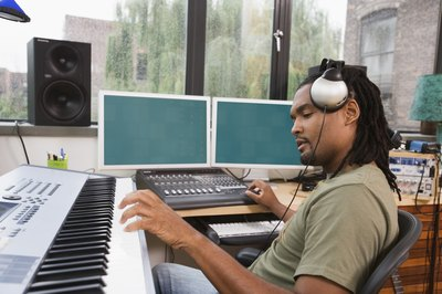 A career path toward becoming a music producer includes jobs in the technical, business and creative fields.