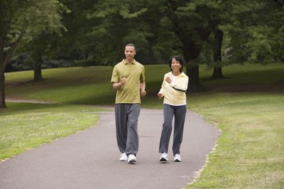 Enjoy fresh air as you exercise.