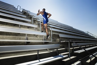 Running stairs is one of the exercises often incorporated into boot camps.