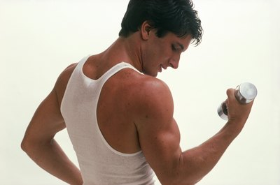Biceps are needed for the arm action that allows sprinters to run faster.