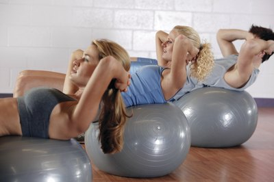 Exercise ball crunches are among the most effective ab exercises, says ACE.