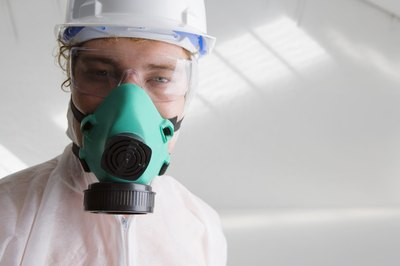 Respiratory, face and skin protection may be needed in response to ammonia spills.