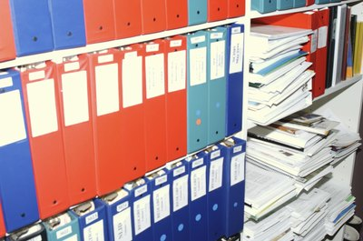 You could use color-coded binders to store things you need to access often.