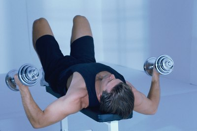 Get an upper-body workout while lying down.