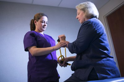 Physical therapist assistants help patients to get moving again.