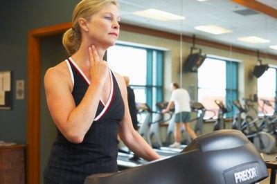 Checking your heart rate during exercise is a simple process.