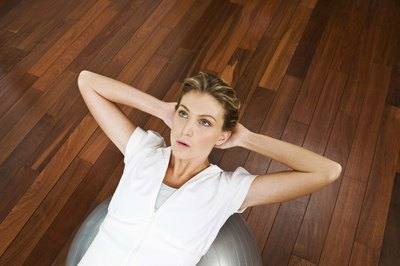 An exercise ball can give you a full-body workout.