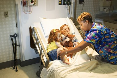 Pediatric nurses help children feel safe while away from home.
