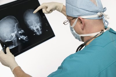 Neurosurgeons read medical images to diagnose.
