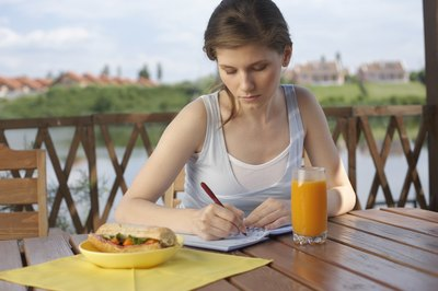 Tracking your food intake helps identify bad eating habits and diet disasters.
