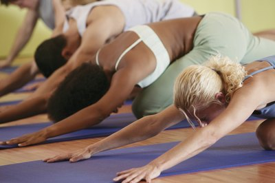 """Feeling the burn"" is easy in a Bikram hot yoga class."