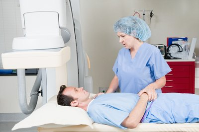 Lithotripsy technologists usually begin as X-ray technicians.