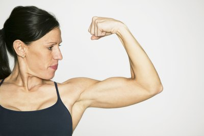 Muscular arms require a dedicated weight routine.