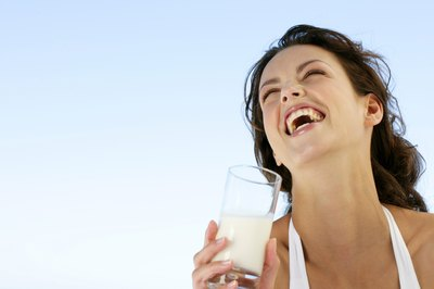 Fat-free milk and dairy products replenish calcium for bones.