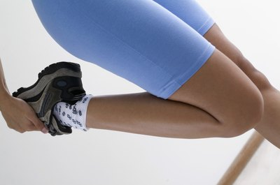 Try to touch your heel to your buttocks during the standing quadriceps stretch.