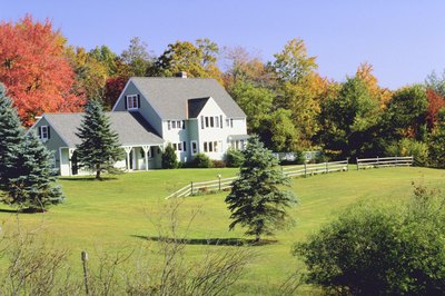 Rural homes commonly have septic systems rather than sewer connections.