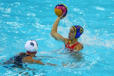 Develop shoulder, arm and leg strength to improve water polo skills.