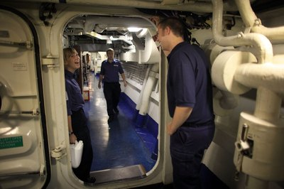 As a ship's chief engineer, you're a department head on a merchant ship.