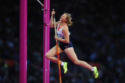 Saturday hill runs help Britain's Holly Bleasdale pole vault.