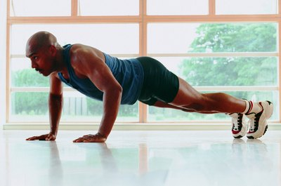 The standard pushup works the upper body.
