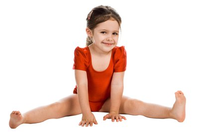 The sitting straddle is one of four basic sitting gymnastic positions.