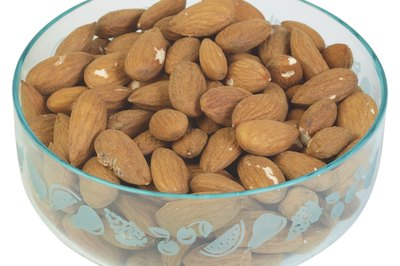 Twenty almonds is a large handful.
