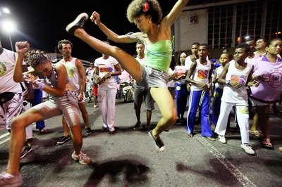 Kick your way into cardiovascular fitness with capoeira.