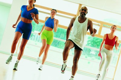 Aerobics classes burn calories.