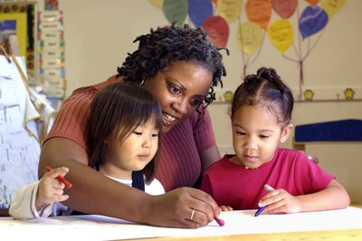 Teachers often work in childcare facilities or early learning care centers.