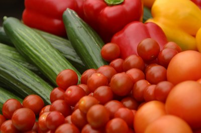 Mini cucumbers and grape tomatoes are a fresh, flavor-filled and healthy snack.
