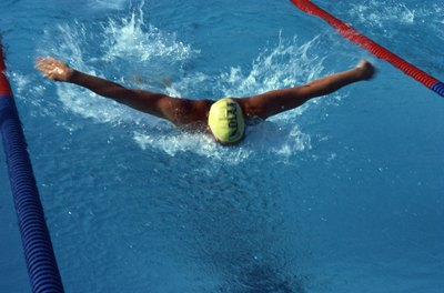 Strong arms are required to propel your body forward in the butterfly stroke.