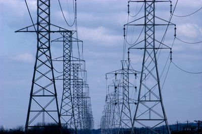 Power companies purchase easements to run transmission lines.