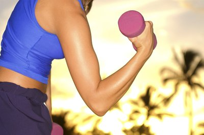 Resistance exercises can strengthen your arms.