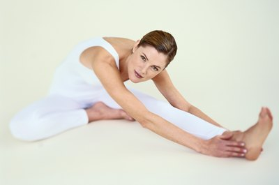 Regular strething can help release inflexible muscles.