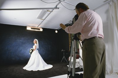 Portrait photographers often work in studios.