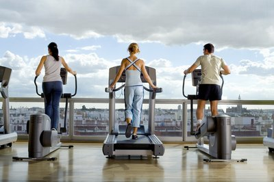 The elliptical offers a lower-impact workout than jogging on the treadmill.