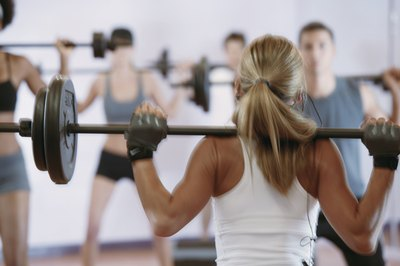 How heavy a barbell to use depends on the number of reps.