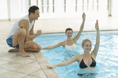 Pool aerobics is a form of cardiovascular exercise.