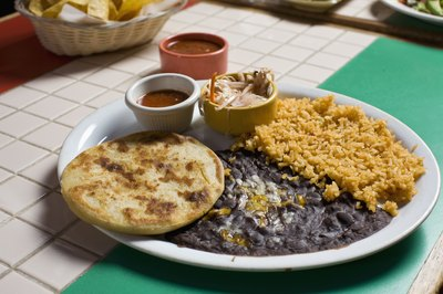Black beans and rice are high in fiber.