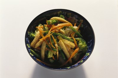 Stir-fried vegetables make for a healthy Thai food dish.