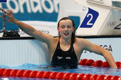 Olympic gold rewarded 800-meter freestyler Katie Ladecky for her rigorous training.