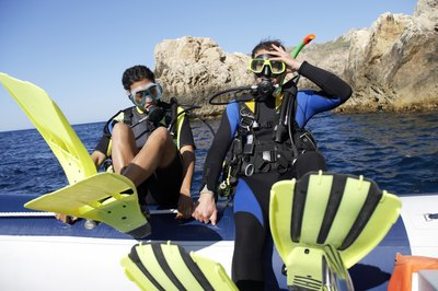 A love of marine life is essential for a diving instructor.