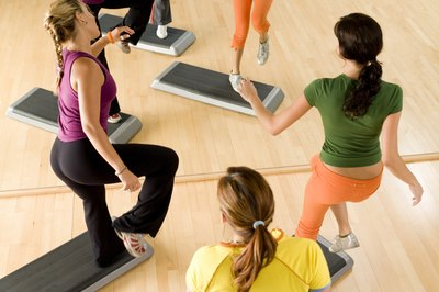 Step yourself into shape by trying a step aerobics workout.