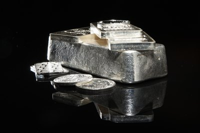 Silver bullion can come in the form of bars, coins or medallions.