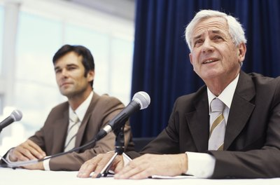 Corporate affairs managers sometimes organize and oversee press conferences for companies.
