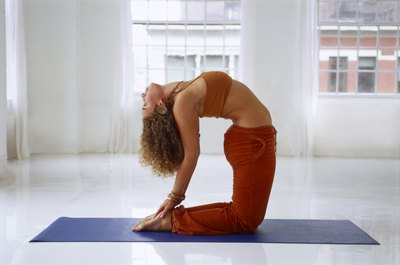 Mats provide grip for different yoga poses.